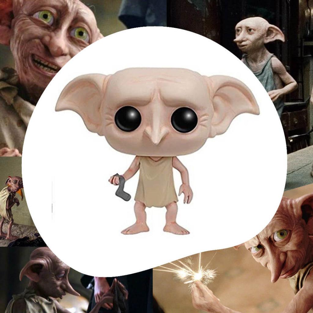 Funko de Dobby sujetando el calcetín que le hace libre