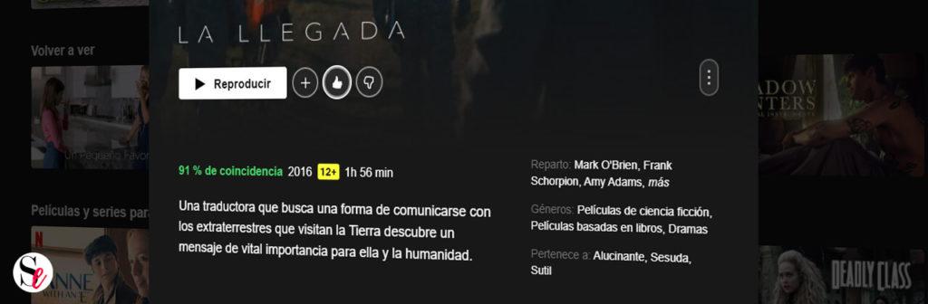 porcentaje de coincidencia de Netflix